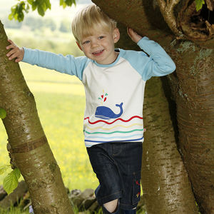 Whale Raglan Top - clothing