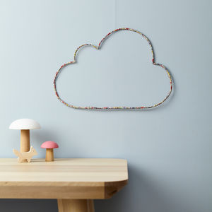 Cloud Liberty Fabric And Wire Wall Decor