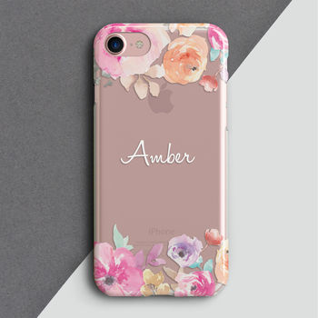 Personalised Cut Out Floral Phone Case