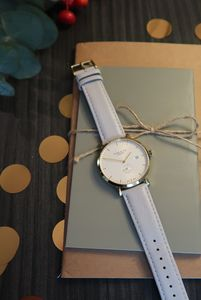 Cloudy Grey, White And Gold Watch - watches