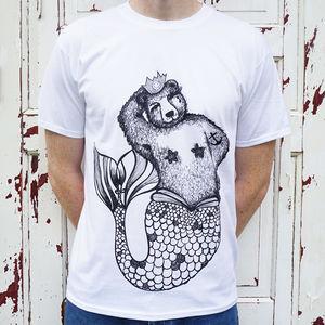 Bear Mermaid T Shirt - tops & t-shirts