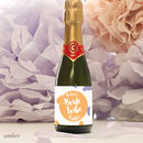 Personalised Bride Tribe Mini Bubbly Labels