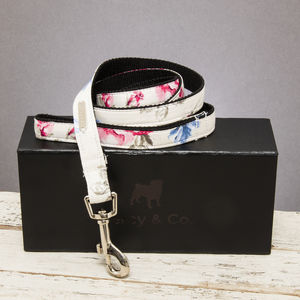 The Disley White And Pink Floral Dog Lead - pets