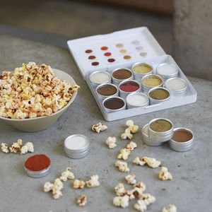 Make Your Own Personalised Popcorn Seasoning Kit - for a special valentine's night in