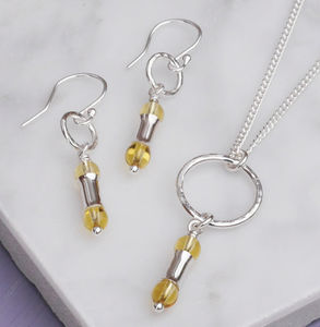 Handmade November Birthstone Citrine Jewellery Set