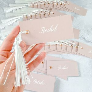 Name Tags With Tassels