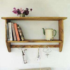 Farmhouse Kitchen Cook Book Shelf - shelves