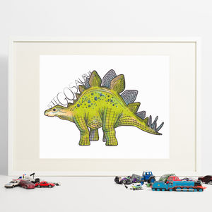 Stegosaurus Dinosaur Print - children's pictures & paintings