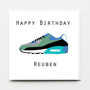 Happy Birthday Boy Trainer Greeting Card