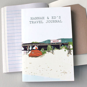 Travel Journal Beach Shack Personalised