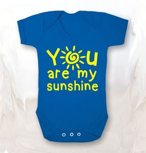 You Are My Sunshine Baby Grow
