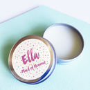 Personalised Confetti Maid Of Honour Lip Balm