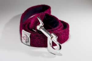 Harris Tweed Dog Lead - dogs