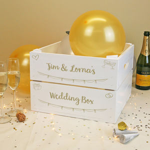 Personalised Celebration Crate With Metallic Text