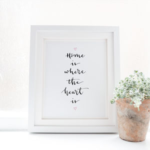 Home Is Where The Heart Is Print - posters & prints