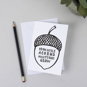 Giant Acorn Greeting Card - shop by category