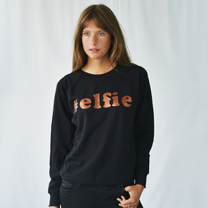 '#Elfie' Women's Christmas Sweatshirt Jumper - christmas clothing & accessories
