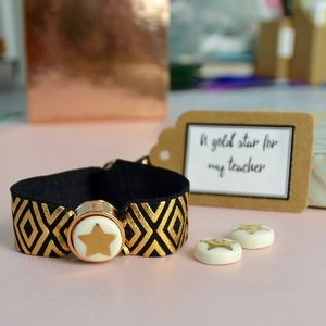 Gold Star Teacher's Bracelet