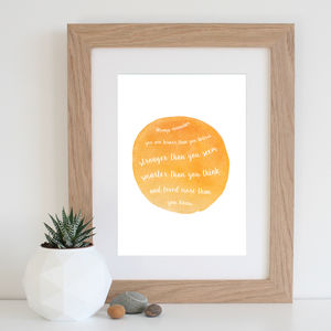 'Winnie The Pooh' Watercolour Quote Print - posters & prints