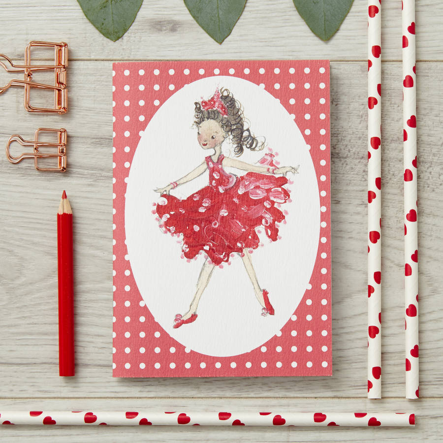 Red Dancer Personalised A6 Notebook