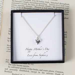 Personalised Silver Heart Mother's Day Necklace - necklaces & pendants