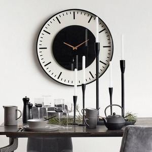 Large Black Metal Wall Clock