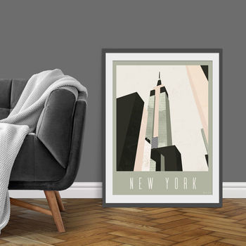Empire State New York Cityscape Art Print