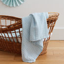 Light Blue Stripe Muslin Swaddle