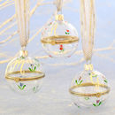 Personalised Handpainted Glass Trinket Bauble