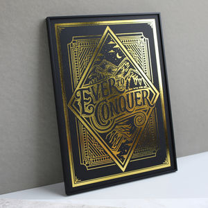 Ever To Conquer Metallic Illustration Print