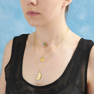 Birthstone Multi Layer Celestial Necklace