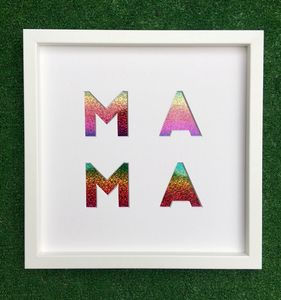 'Mama' Cut Out Artwork - baby's room