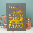 Papercut Awesome Grandad Father's Day Card