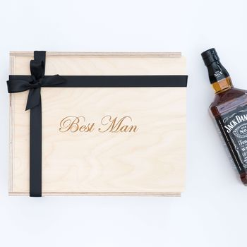 'Best Man' Engraved Wooden Gift Box
