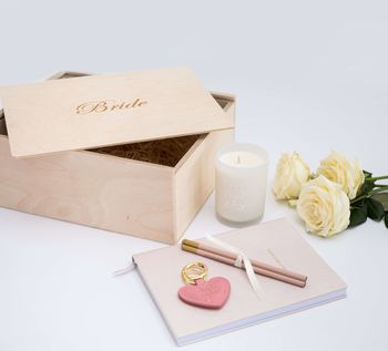 'Bride' Engraved Wooden Gift Box