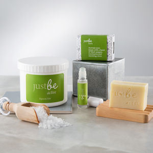 Active Bath Salts, Soap And Rollerball Gift Set - brand new partners