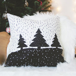 Christmas Trees And Snow Cushion - what's new