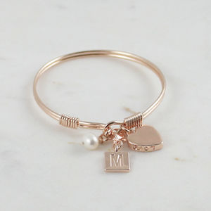 Pearl And Love Initial Bracelet