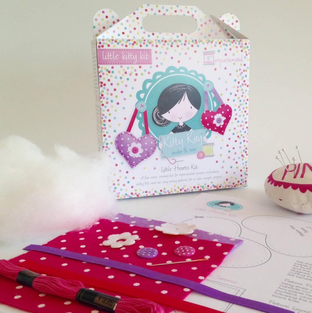 Gift Mini Hearts Sewing Craft Kit