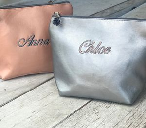 Personalised Metallic Make Up Bag Or Purse
