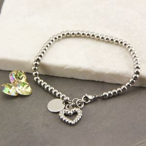 Personalised Ball Heart Bracelet - bracelets & bangles