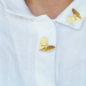 Gold Or Silver Butterfly Brooch Pin