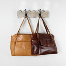Leather Pocket Shopper Tote