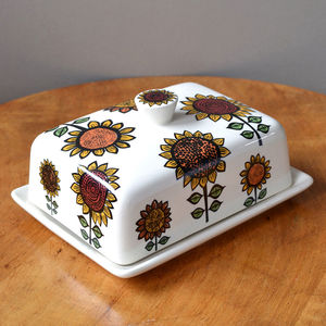 Sunflower Butter Dish - tableware