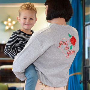 Embroidered 'You Do You' Sweatshirt - women's fashion