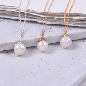 Huge Organic Pearl Necklace