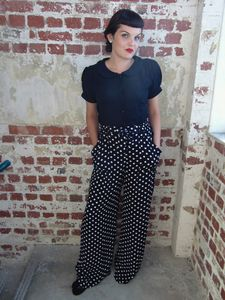 1940's Inspired 'Winnie' Vintage Trousers - women's fashion