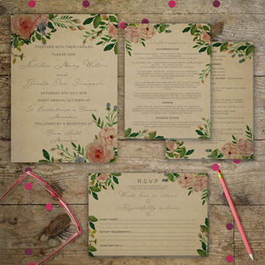 Vintage Garden Wedding Invitations - invitations