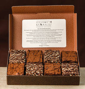 Gourmet Brownie Chocolate And Caramel Gift Box - brownies