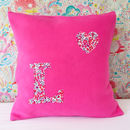 Liberty Floral Initial Cushion